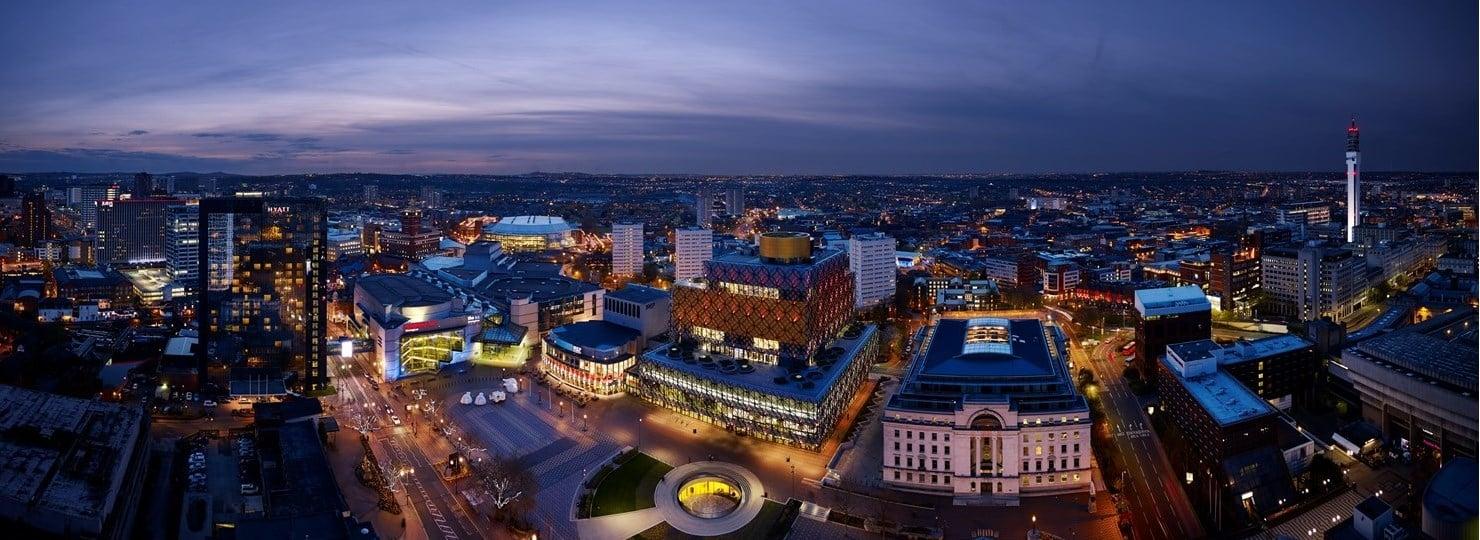 Panorama sur Birmingham