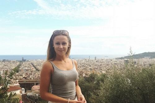 Sarah à Barcelone