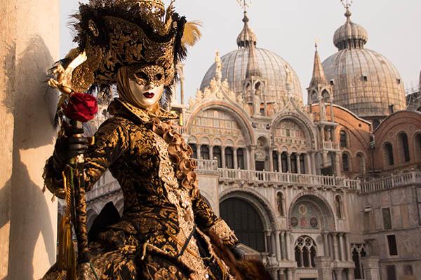 Carnaval de Venise durant le mardi gras